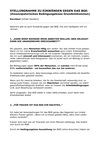 Stellungnahme zu Einwänden gegen das BGE
